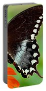 The Butterfly And The Zinnia Portable Battery Charger
