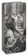 The Buyers And Sellers Driven Out Of The Temple Portable Battery Charger by Gustave Dore