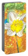 The Buzzing Life Of A Spring Narcissus Portable Battery Charger