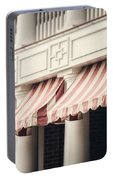 The Cafe Awnings At Chautauqua Institution New York  Portable Battery Charger