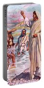 The Call Of Andrew And Peter Portable Battery Charger by Harold Copping