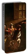 The Calling Of St Matthew Portable Battery Charger by Michelangelo Merisi o Amerighi da Caravaggio