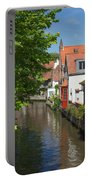The Canal In The Downtown Of Bruges  Portable Battery Charger