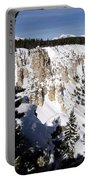 The Canyon In Winter Portable Battery Charger