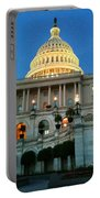 The Capitol At Dusk Portable Battery Charger