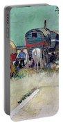 The Caravans   Gypsy Encampment Near Arles Portable Battery Charger by Vincent Van Gogh