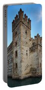 The Castle Of Sirmione. Lago Di Garda Portable Battery Charger