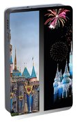 The Castles Of Disney 2 Panel Vertical Portable Battery Charger
