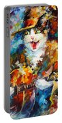 The Cat And The Guitar Portable Battery Charger