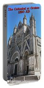 The Cathedral At Orvieto Portable Battery Charger