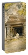 The Cave Of Elephanta, From India Portable Battery Charger
