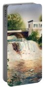 The Chagrin Falls In Summer Portable Battery Charger