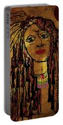 The Cheyenne Indian Warrior Brave Wolf Pop Art Portable Battery Charger