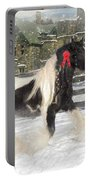 The Christmas Pony Portable Battery Charger by Fran J Scott