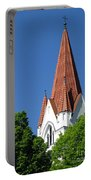 The Chuch Tower- Silute- Lithuania Portable Battery Charger