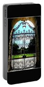 The Gate At Vizcaya Portable Battery Charger
