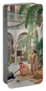 The Court Of The Harem Portable Battery Charger by Albert Girard