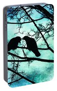 The Courtship Of Crows Portable Battery Charger
