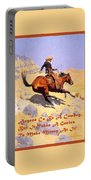 The Cowboy With Quote Portable Battery Charger