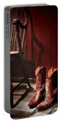 The Cowgirl Boots And The Old Chair Portable Battery Charger