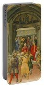 The Crippled And Sick Cured At The Tomb Of Saint Nicholas Portable Battery Charger by Gentile da Fabriano