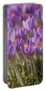 The Crocus Flowers  Portable Battery Charger