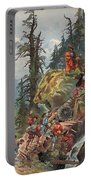 The Crossing Of The Alps, Illustration Portable Battery Charger