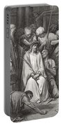 The Crown Of Thorns Portable Battery Charger by Gustave Dore