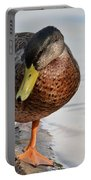 The Cute Brown Duck Portable Battery Charger