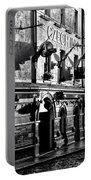 The Czech Inn - Dublin Ireland In Black And White Portable Battery Charger