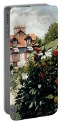 The Dahlias Garden At Petit Gennevilliers Portable Battery Charger