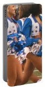 The Dallas Cowboys Cheerleaders Portable Battery Charger by Donna Wilson