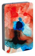 The Dancer - Abstract Red And Blue Art By Sharon Cummings Portable Battery Charger