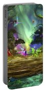 The Dancing Auroras Portable Battery Charger