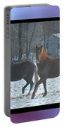 The Dancing Paso Fino Stallions Portable Battery Charger