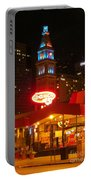 The Daniels And  Fisher Tower At Night Portable Battery Charger