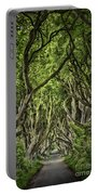 The Dark Hedges Portable Battery Charger by Evelina Kremsdorf