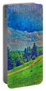 The Dark Hills Portable Battery Charger by Michelle Greene Wheeler