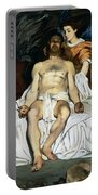 The Dead Christ And Angels Portable Battery Charger by Edouard Manet