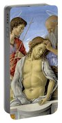 The Dead Christ Supported By Saints Portable Battery Charger