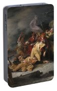 The Death Of General Montgomery In The Attack On Quebec, December 31, 1775, 1786 Oil On Canvas Portable Battery Charger
