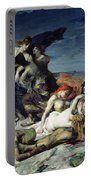 The Death Of Ravana Portable Battery Charger by Fernand Cormon