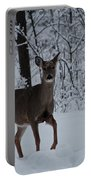 The Deer In The Snow Portable Battery Charger