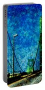 The Delaware Memorial Bridge Portable Battery Charger by Angelina Vick