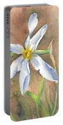 The Delicate Autumn Lady - Narcissus Serotinus Portable Battery Charger