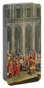 The Departure Of Alois Thomas Von Harrach, Viceroy Of Naples 1669-1742 From The Palazzo Reale Di Portable Battery Charger