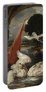 The Descent Of The Swan, Illustration Portable Battery Charger