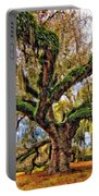 The Dueling Oak Painted Portable Battery Charger