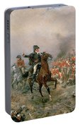 The Duke Of Wellington At Waterloo Portable Battery Charger