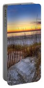 The Dunes At Sunset Portable Battery Charger by Debra and Dave Vanderlaan